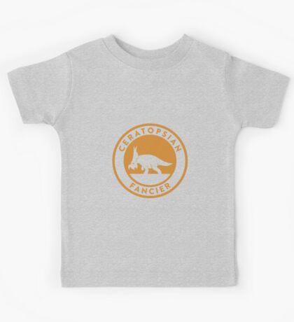 Ceratopsian Fancier Tee (Mustard on White) Kids Clothes