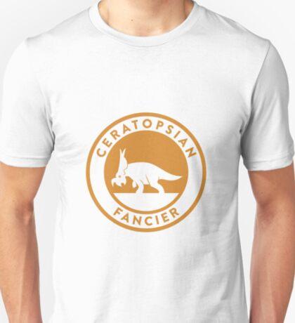 Ceratopsian Fancier Tee (Mustard on White) T-Shirt