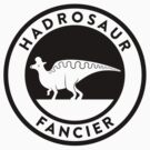 Hadrosaur Fancier (Black on Light) by David Orr