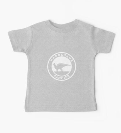 Hadrosaur Fancier (White on Dark) Kids Clothes