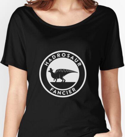 Hadrosaur Fancier (White on Dark) Women's Relaxed Fit T-Shirt