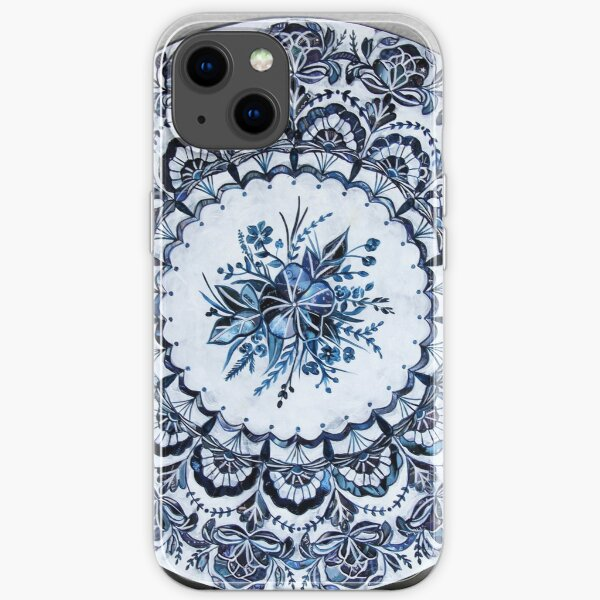 Blue and White China Pattern Mandala iPhone Soft Case