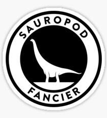 Sauropod Fancier (Black on Light) Sticker