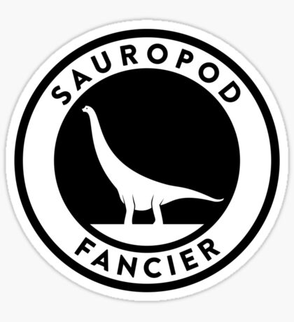 Sauropod Fancier (Black on Light) Sticker