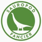Sauropod Fancier (Green on White) by David Orr