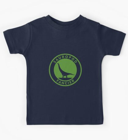 Sauropod Fancier (Green on White) Kids Clothes