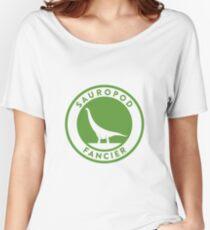 Sauropod Fancier (Green on White) Women's Relaxed Fit T-Shirt