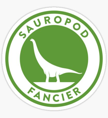 Sauropod Fancier (Green on White) Sticker