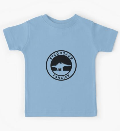 Stegosaur Fancier (Black on Light) Kids Clothes