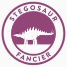 Stegosaur Fancier (Violet on White) by David Orr