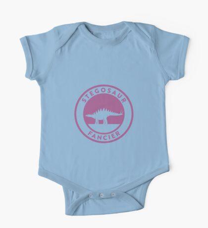 Stegosaur Fancier (Violet on White) Kids Clothes