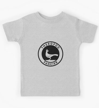 Theropod Fancier (Black on Light) Kids Clothes