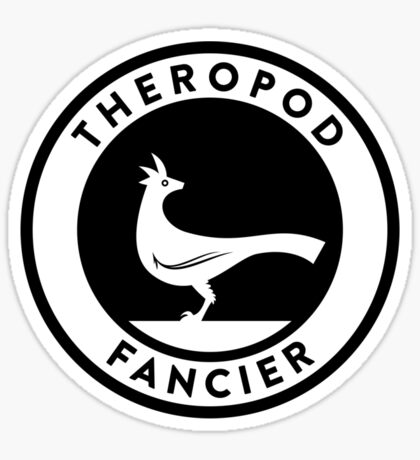 Theropod Fancier (Black on Light) Sticker