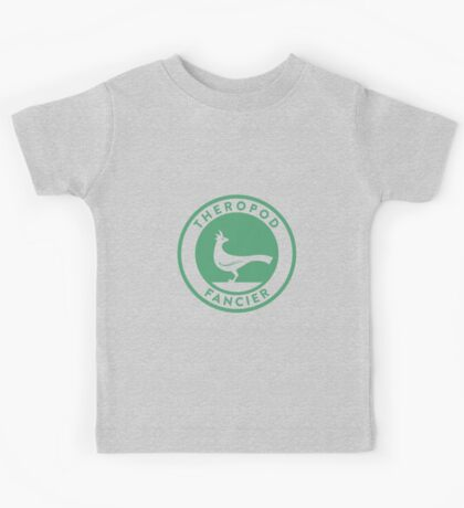 Theropod Fancier (Teal on White) Kids Clothes