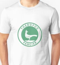 Theropod Fancier (Teal on White) T-Shirt