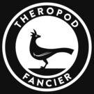 Theropod Fancier (White on Dark) by David Orr