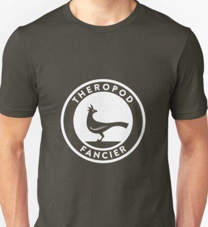 Theropod Fancier (White on Dark) T-Shirt