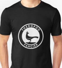 Theropod Fancier (White on Dark) T-Shirt