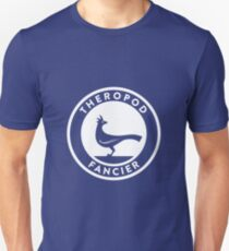 Theropod Fancier (White on Dark) Unisex T-Shirt