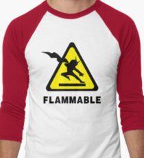 Flammable Joe Men's Baseball ¾ T-Shirt
