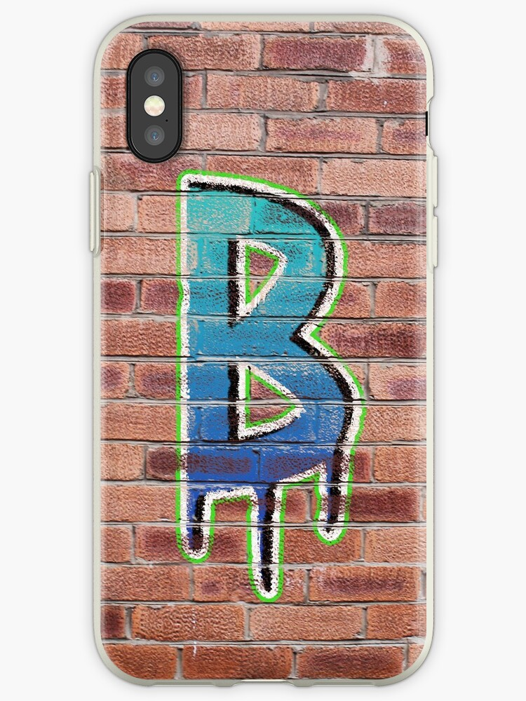 Graffiti Printed Letter B on wall by jackhickling