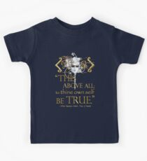"Shakespeare Hamlet ""own self be true"" Quote Kids Tee"