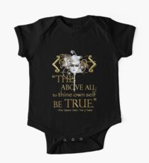 "Shakespeare Hamlet ""own self be true"" Quote One Piece - Short Sleeve"