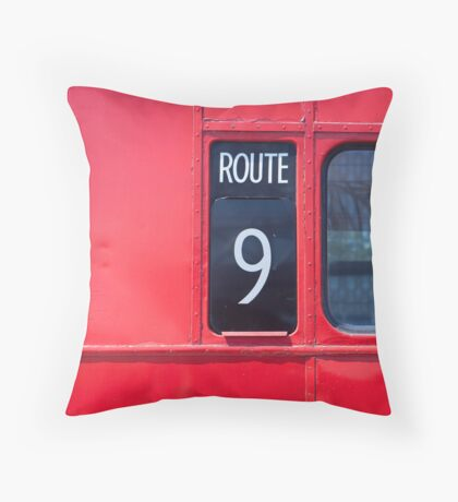 Route master London bus number 9 Throw Pillow