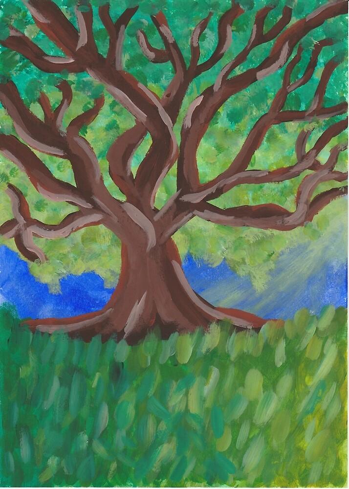 Sunlit Tree by MissTariana