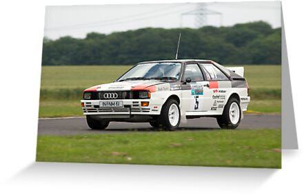 Audi Quattro rally car Mikkola by Martyn Franklin