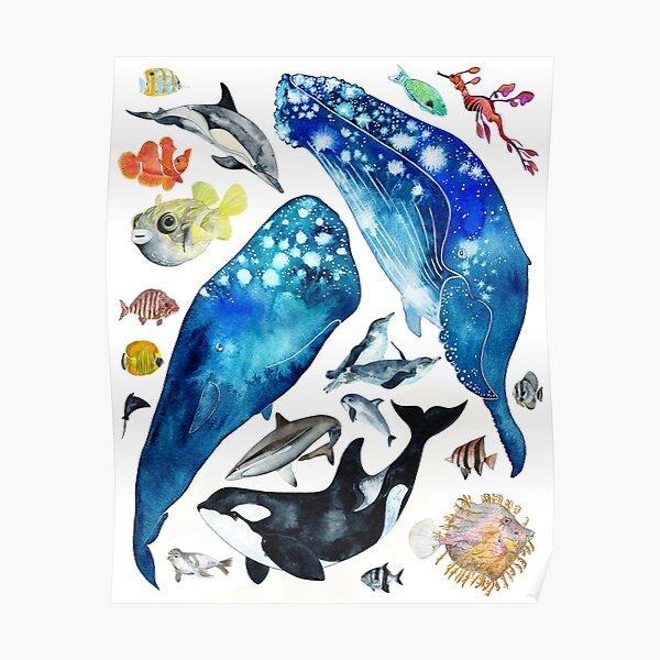 Happy Sea Creatures Poster
