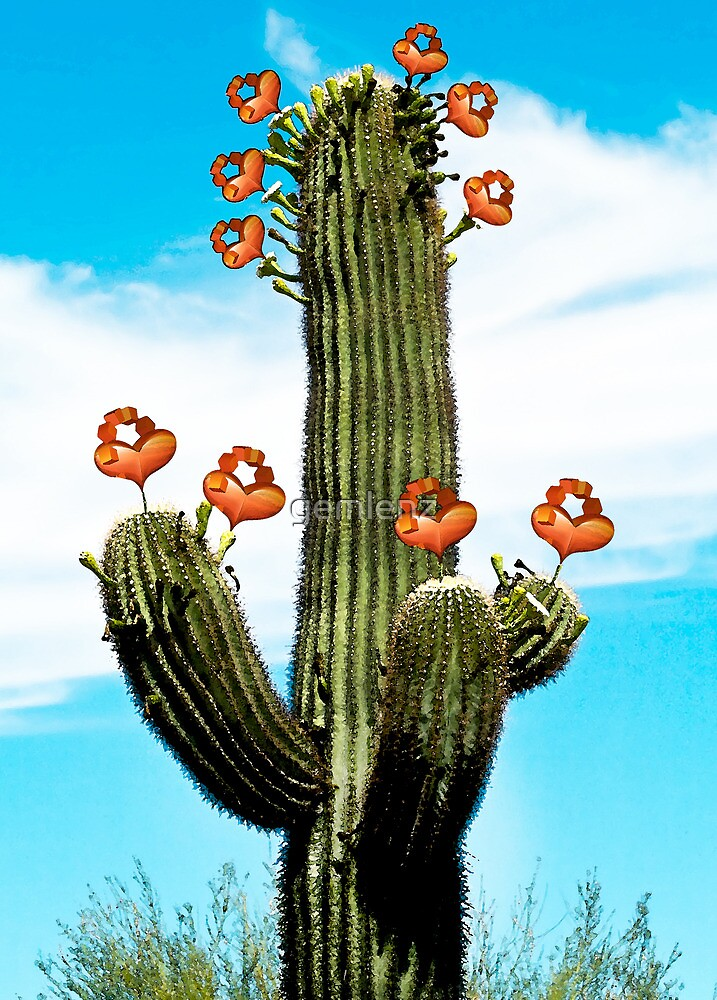 Cactus Valentine Painted by gemlenz