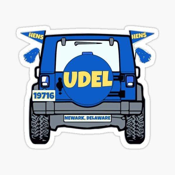 University of Delaware Jeep Sticker