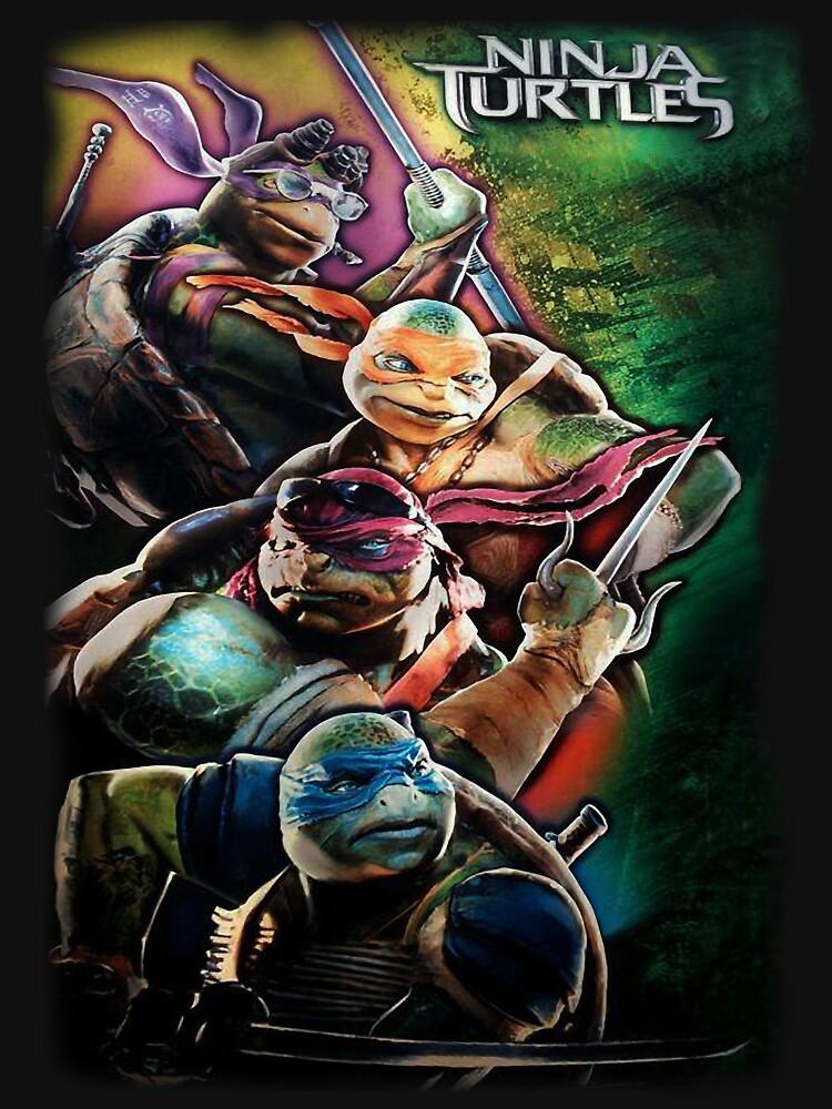 2014 TMNT Ninja Turtles movie poster shirt | Unisex T-Shirt
