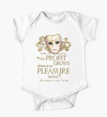 Shakespeare The Taming of the Shrew Pleasure Quote Kids Clothes