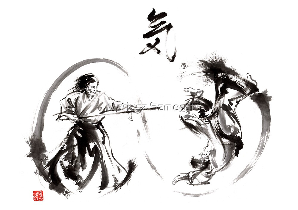 Quot Aikido Federation Show Double Enso Fight Line Circle