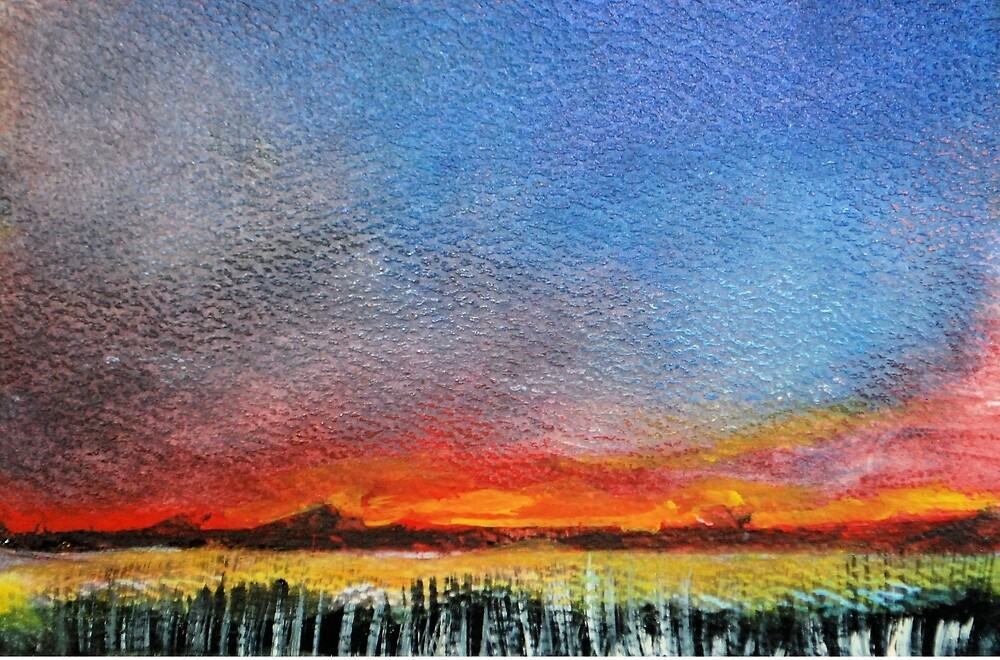 Imaginary Sunset Sketch by Martin Kirkwood