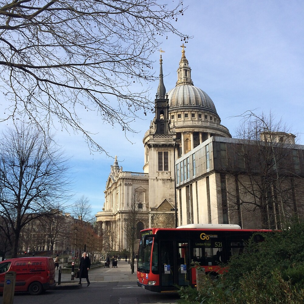 St Paul's Cathedral from Watling Street by Msheldrake