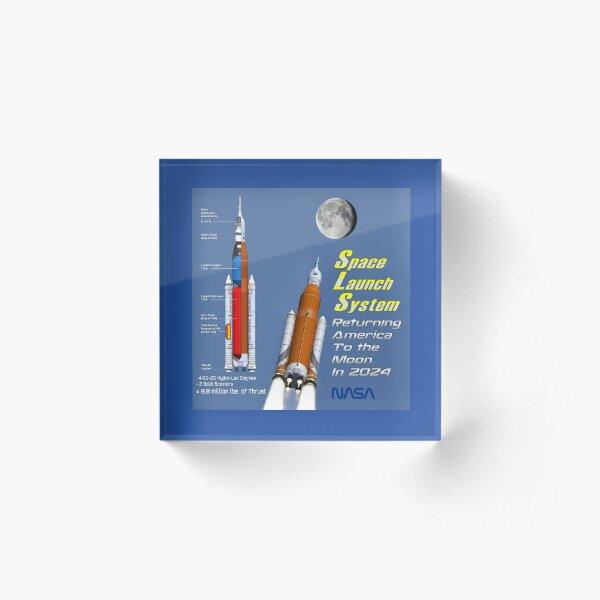 NASA's Artemis Space Launch System Acrylic Block