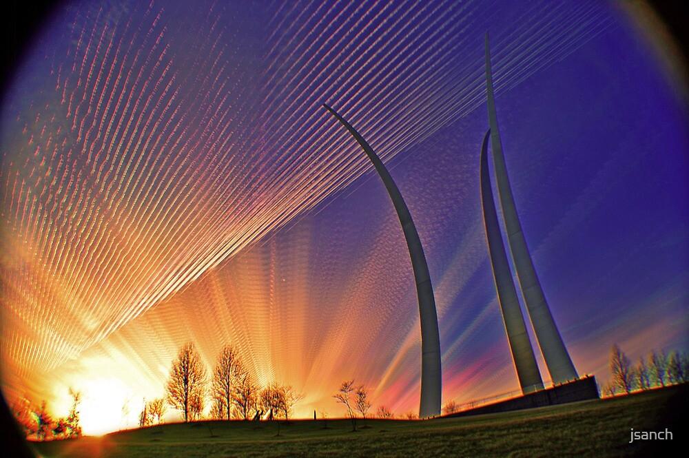 Sunset-AF Memoria Washington, DC by jsanch