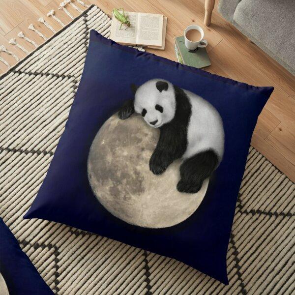 Sleeping on the moon Floor Pillow