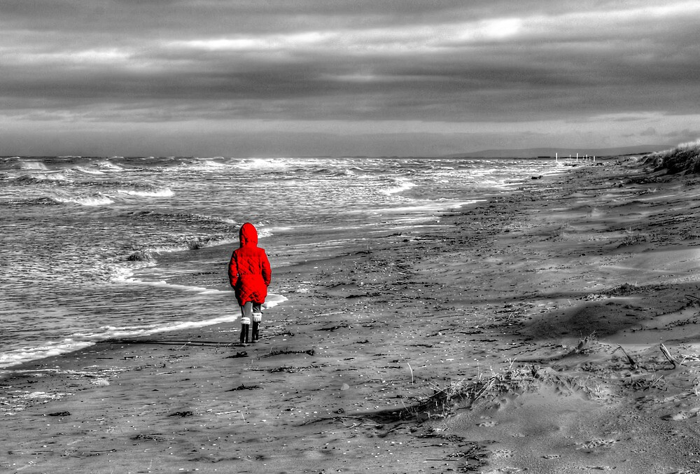 Lady In Red by Roger Green