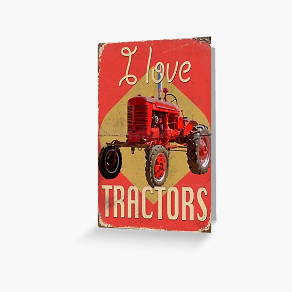 TractorPosterFA_01a Greeting Card