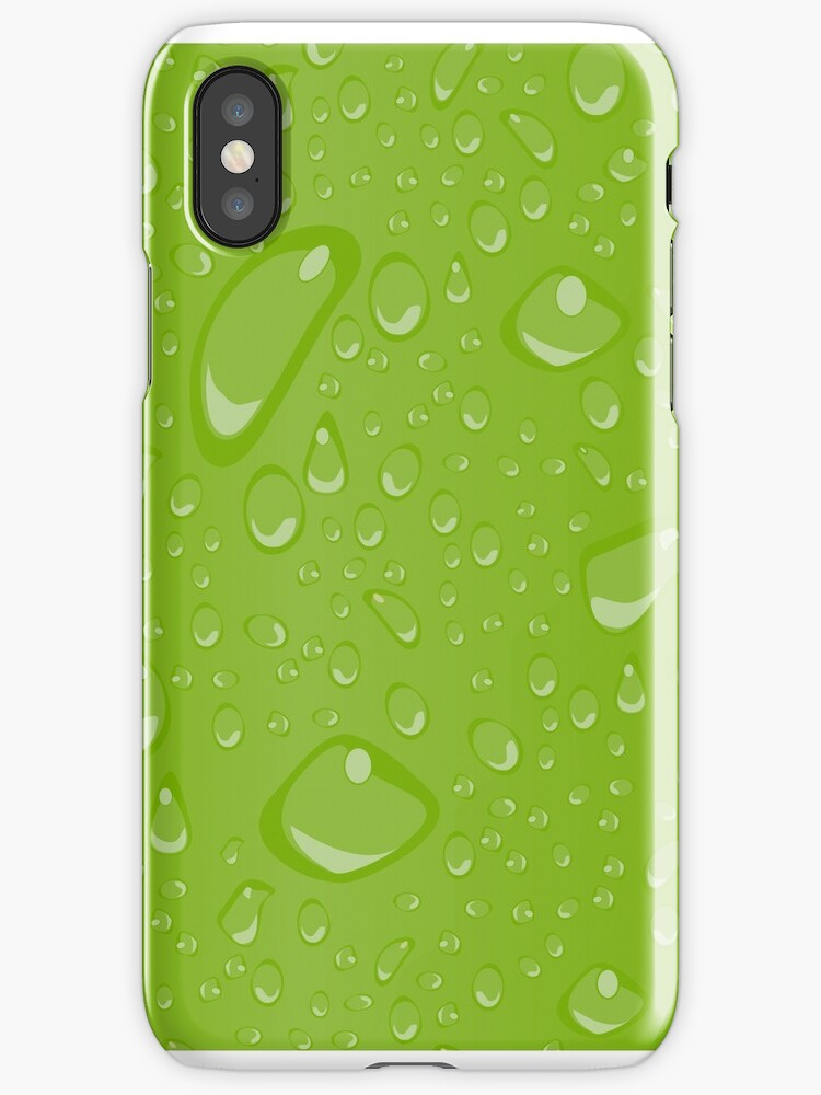 Water Droplets Green by djvinnyvector