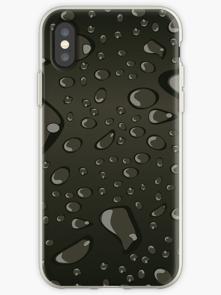 Water Droplets Black by djvinnyvector