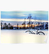 A Snowy Bike Ride Poster