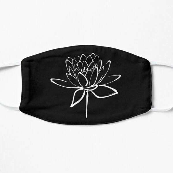 Lotus Flower Calligraphy (White) Mask