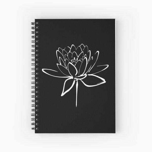 Lotus Flower Calligraphy (White) Spiral Notebook