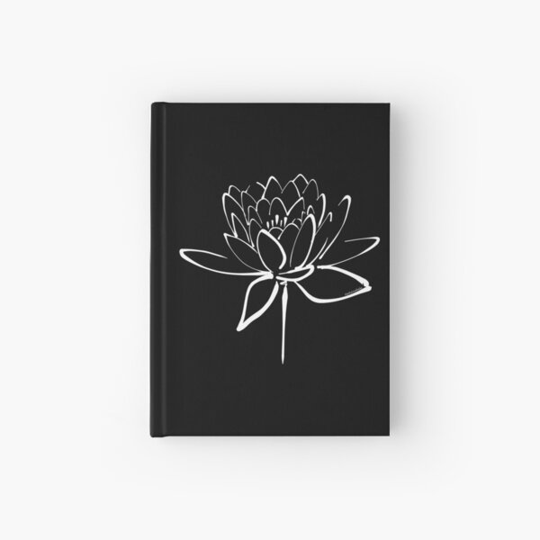 Lotus Flower Calligraphy (White) Hardcover Journal