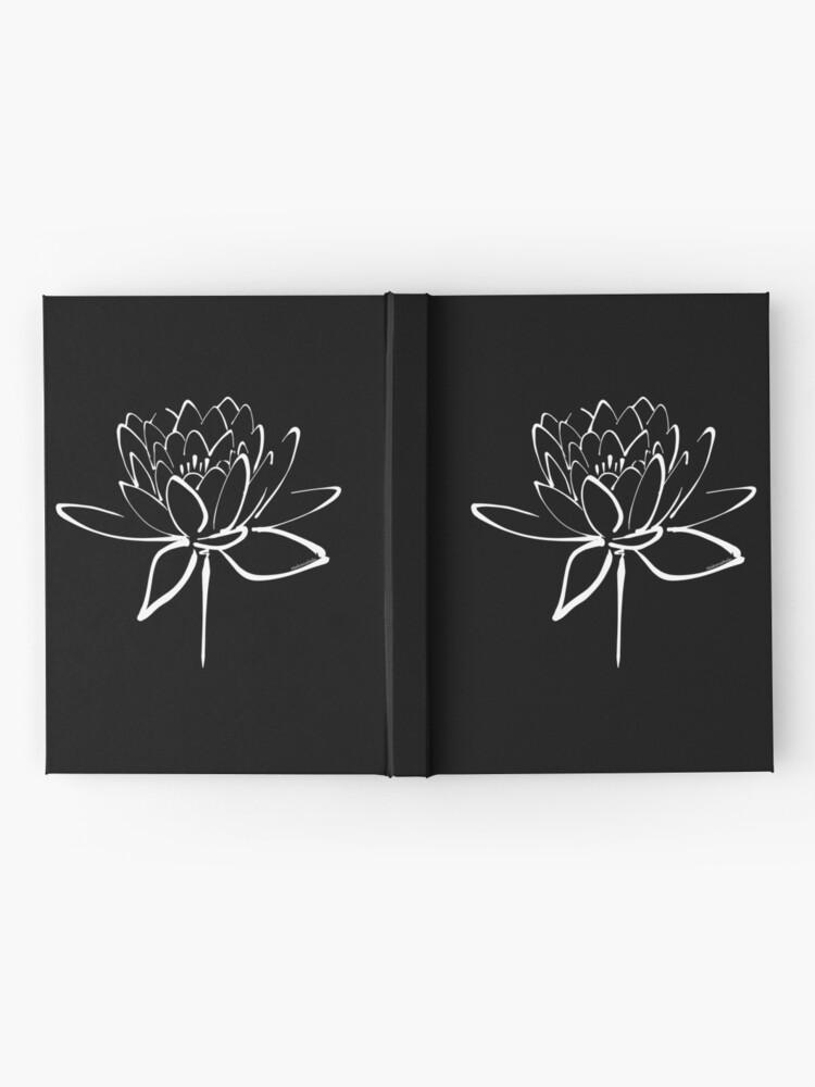 Alternate view of Lotus Flower Calligraphy (White) Hardcover Journal